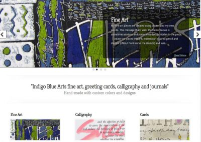 Indigo Blue Arts Website