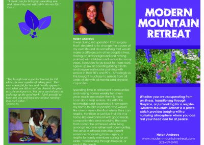 Modern Mountain Retreat Brochure