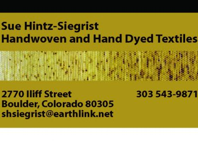 Siegrist Business Card & Gift Tag