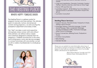 The Nesting Place LLC Business Card and Brochure